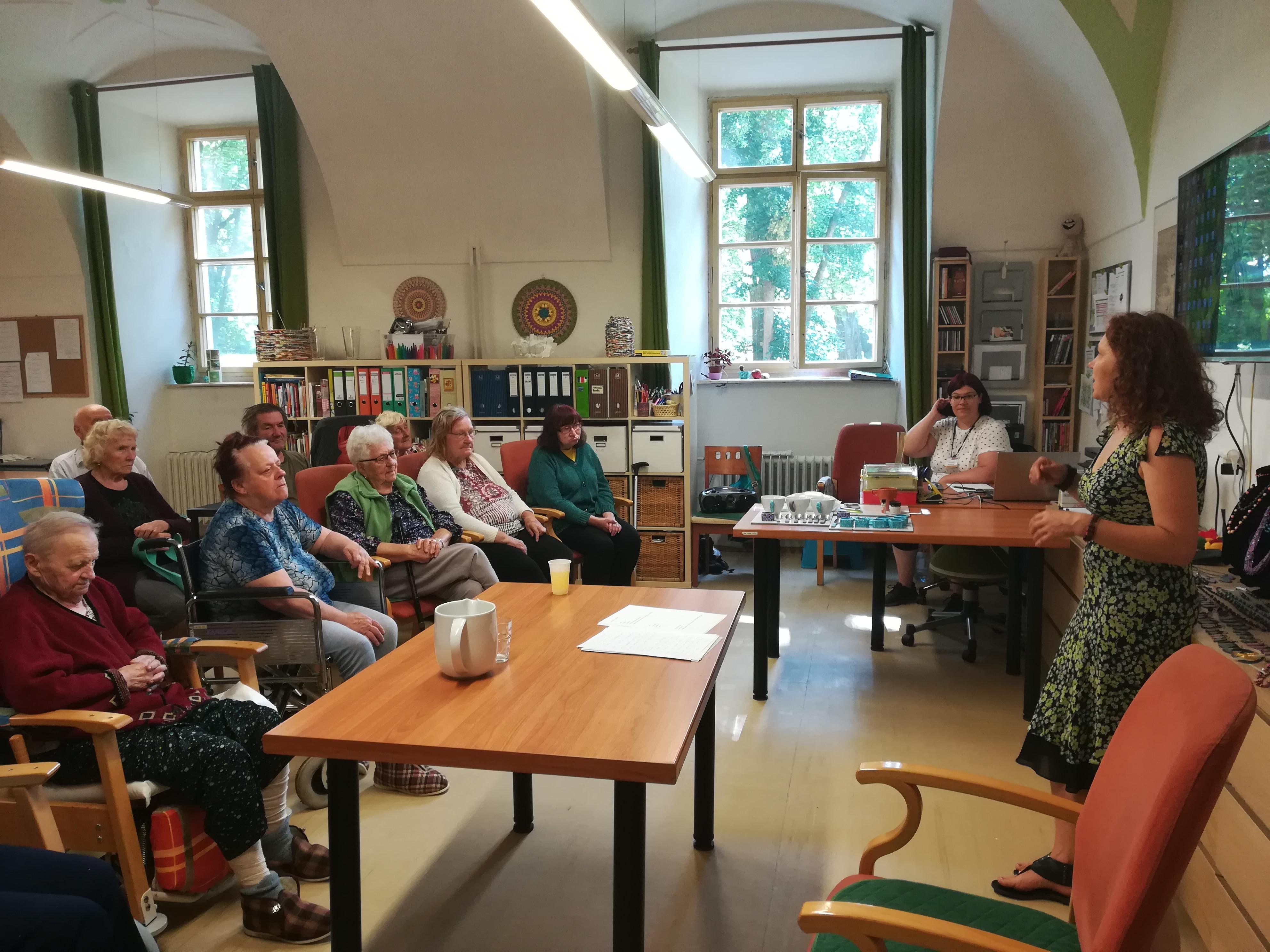 Přednáška o životním prostředí v Domově důchodců Kolešovice